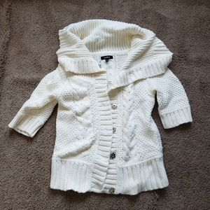Express knitted white cardigan